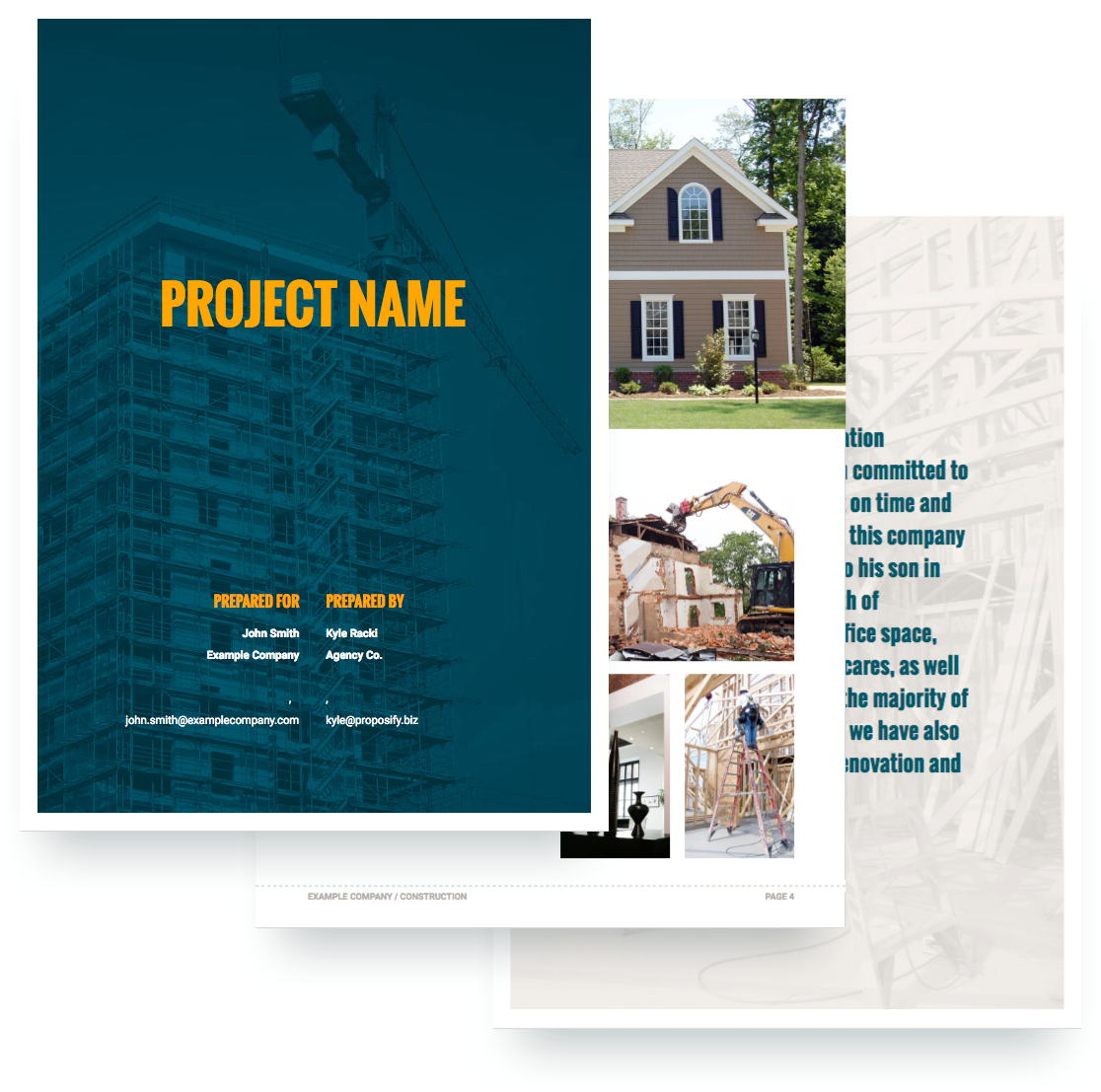 free construction proposal template