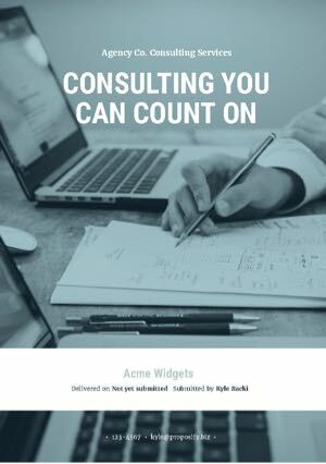 Consulting Proposal Template cover