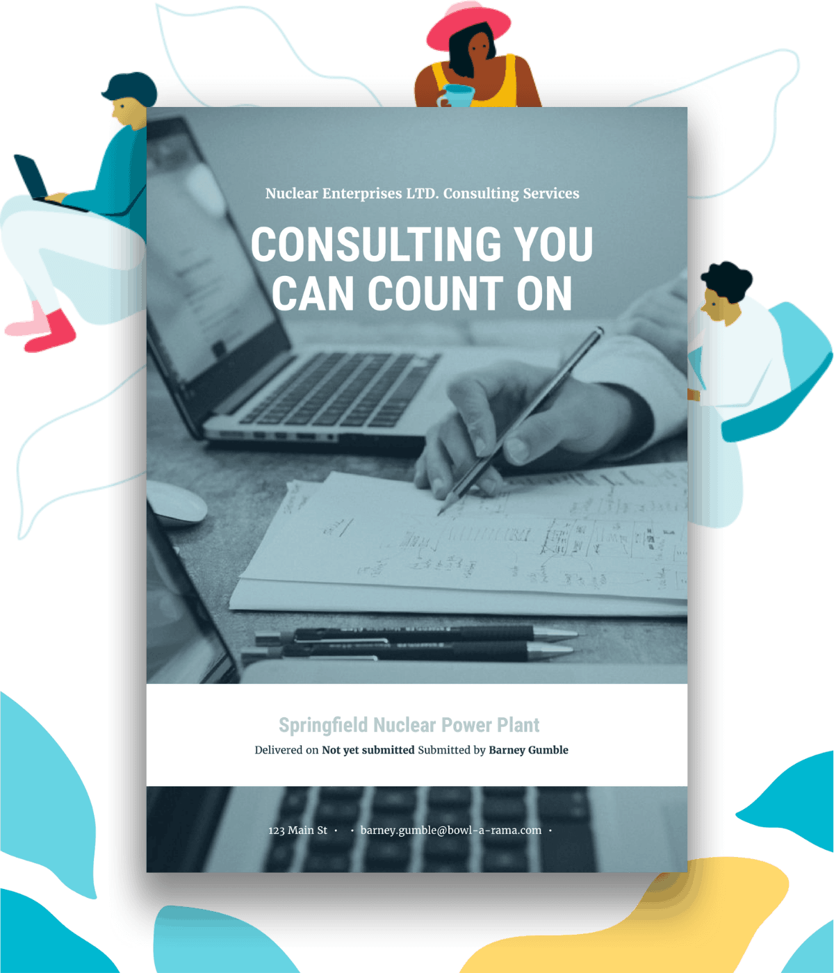 Sample cover page for a business consulting proposal.