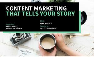 Content Marketing Proposal Template cover