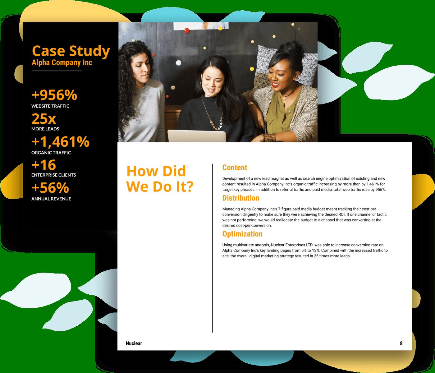 Digital marketing proposal template case study