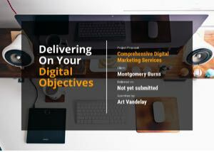 Digital Marketing Proposal Template cover