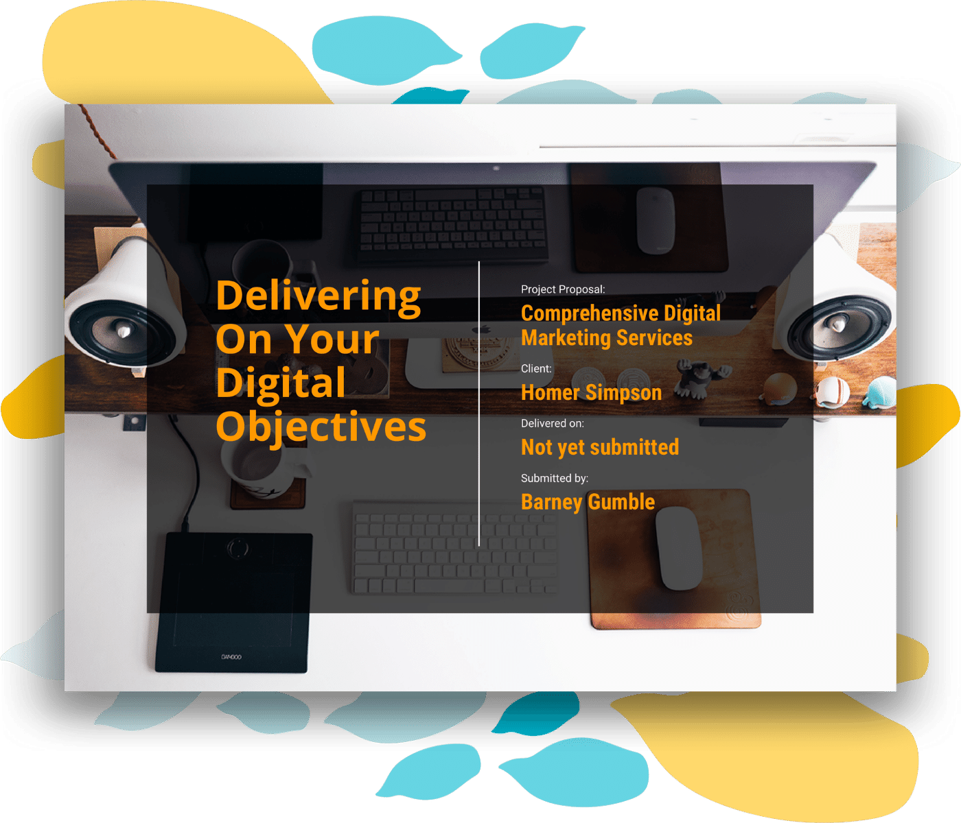 Digital marketing proposal template cover page