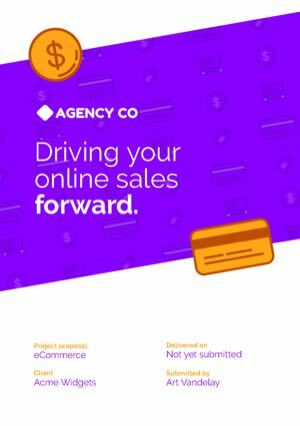 Ecommerce Proposal Template cover