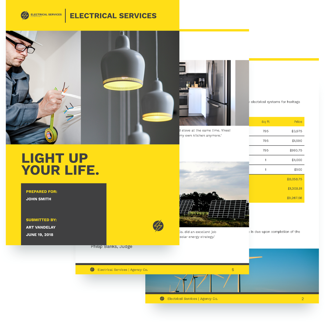 free electrical services proposal template