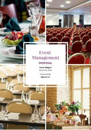 free event management proposal template