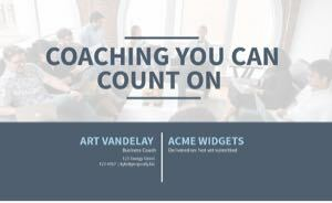 Executive Coaching Proposal Template cover