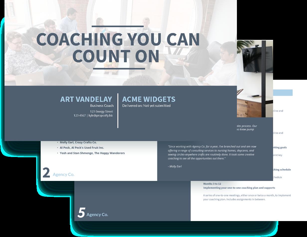 free executive coaching proposal template