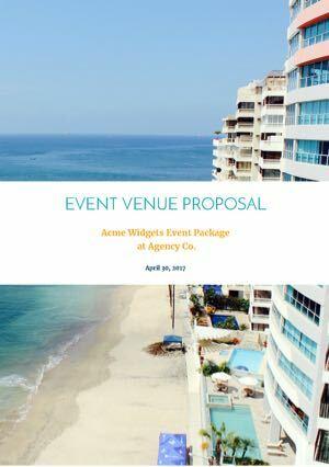 free hotel event venue proposal template