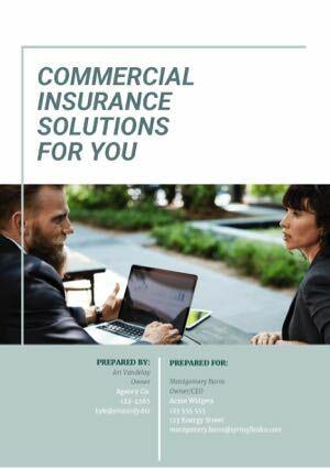 free insurance proposal template