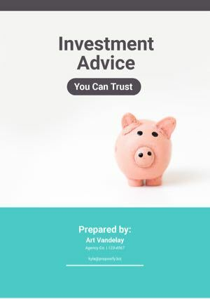 Investment Proposal Template cover
