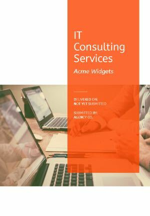 IT Services Proposal Template cover