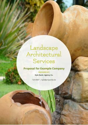 Landscaping Proposal Template cover