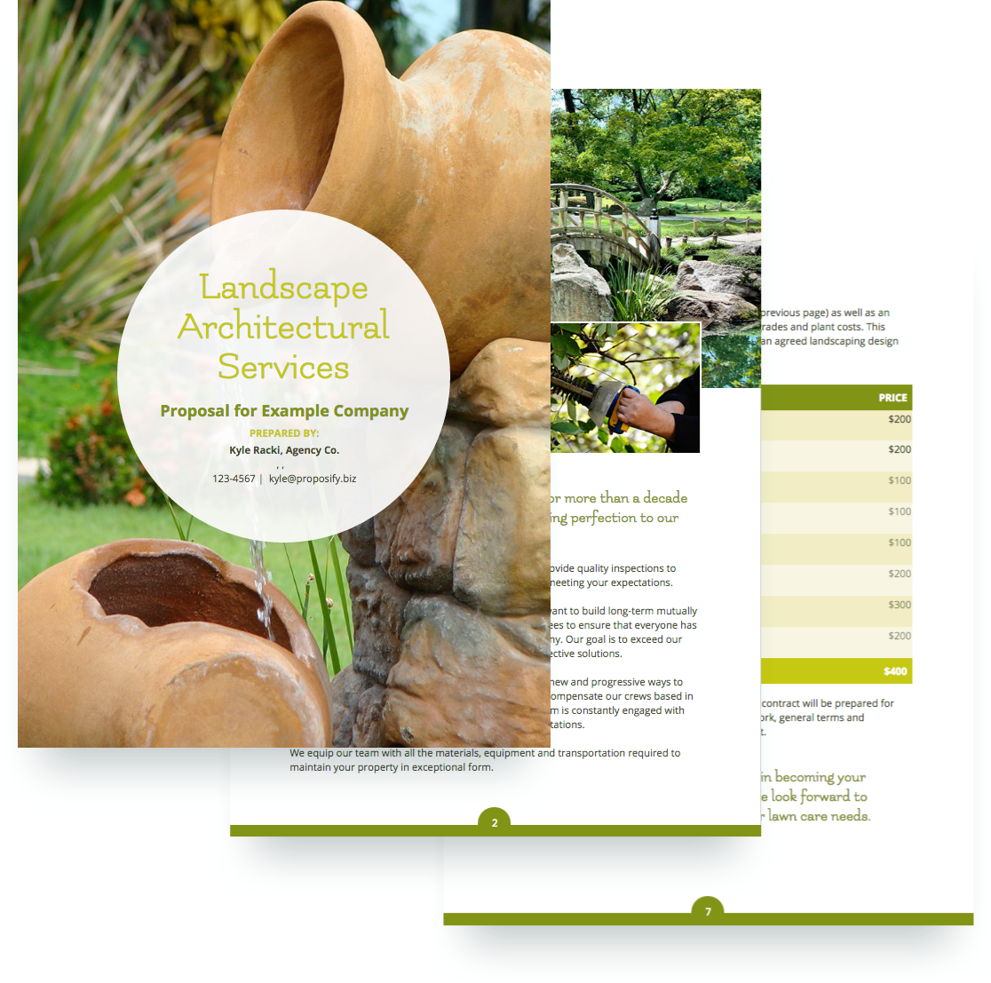 free landscaping proposal template