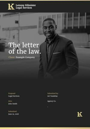 Legal Services Proposal Template cover