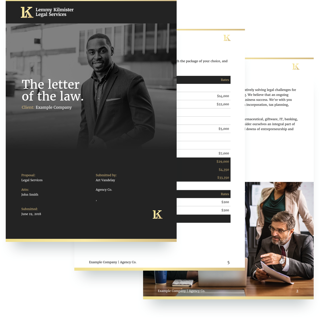 free legal services proposal template