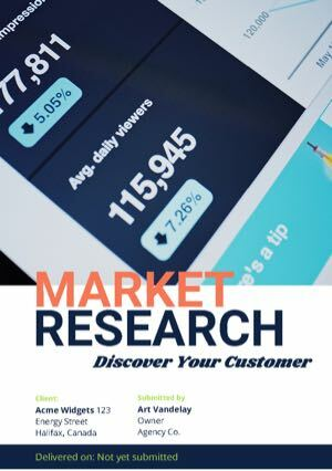 Market Research Proposal Template cover