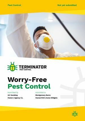 Pest Control Proposal Template cover