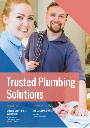 Plumbing Proposal Template cover