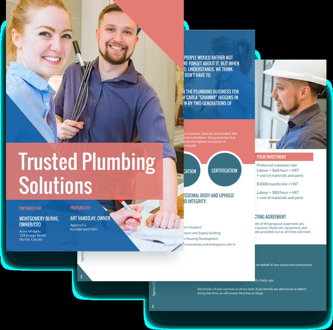 free plumbing proposal template