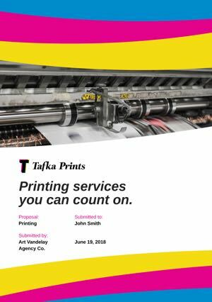 Printing Proposal Template cover
