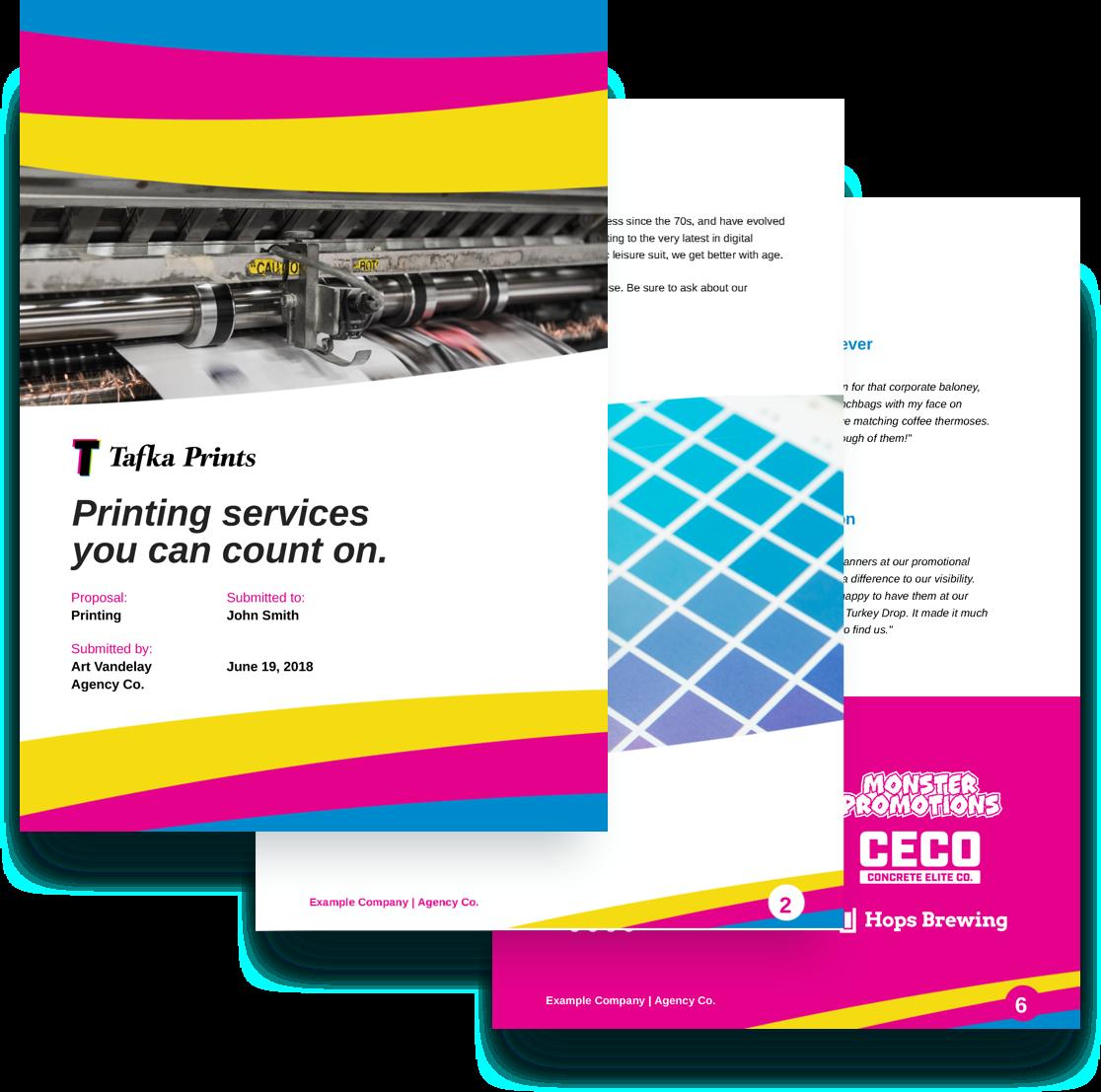 free printing proposal template
