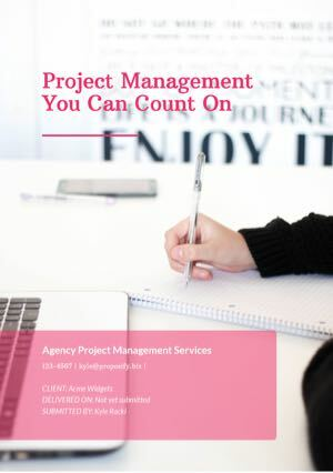 Project Management Proposal Template cover