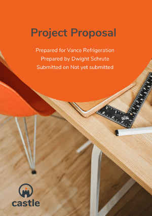 Project Proposal Template cover