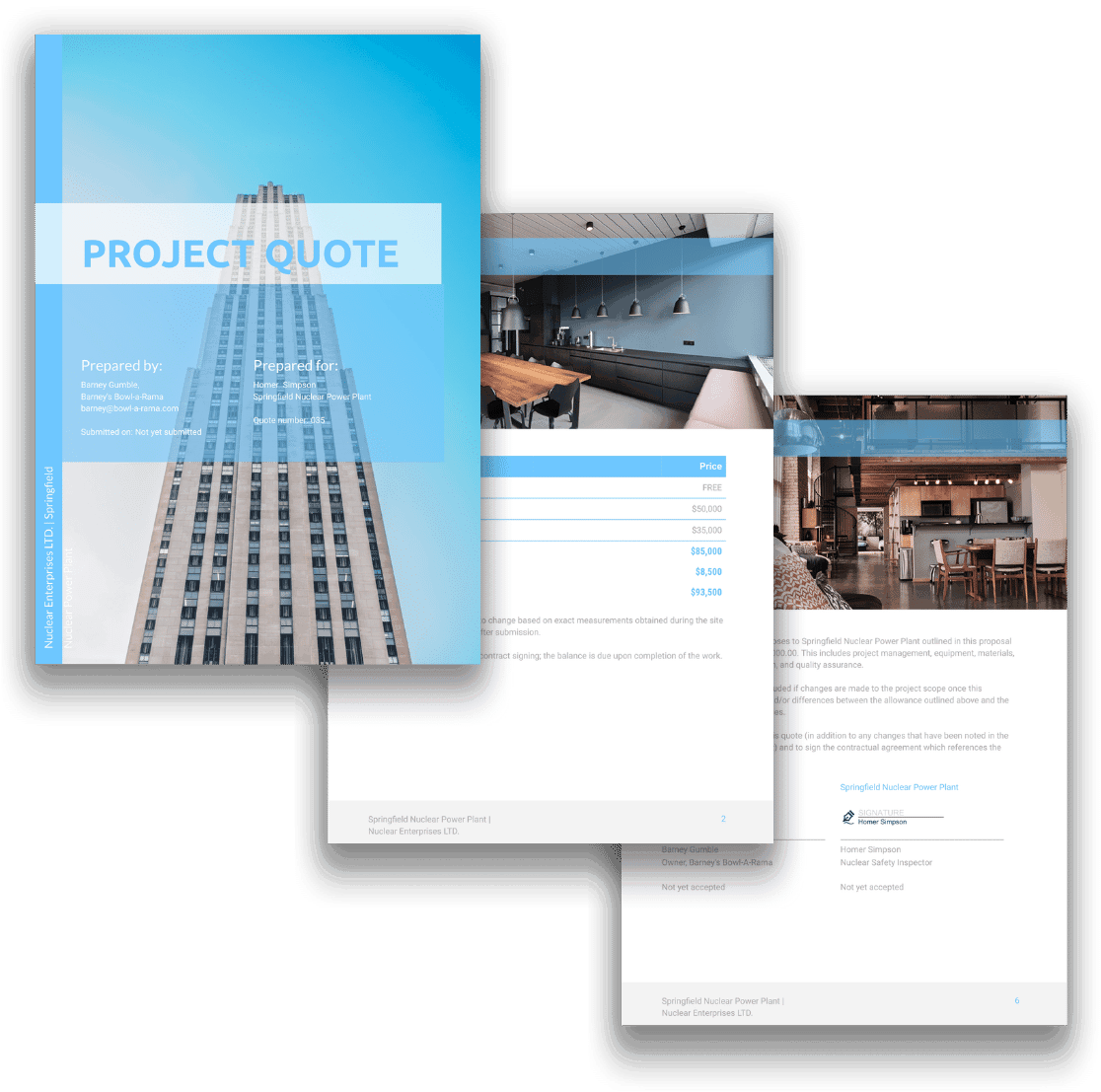 free project quote template