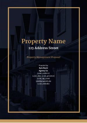 Property Management Proposal Template cover