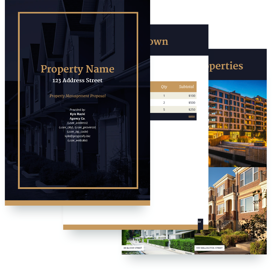 free property management proposal template