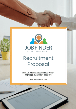 Recruitment Proposal Template cover