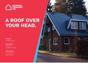 Roofing Proposal Template cover