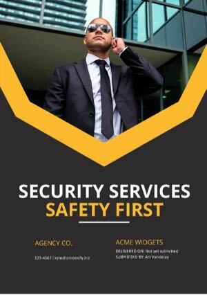 Security Proposal Template cover
