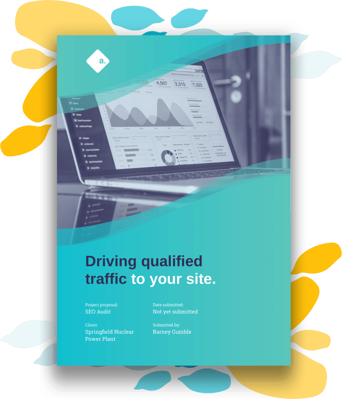 sample cover page for seo proposal template
