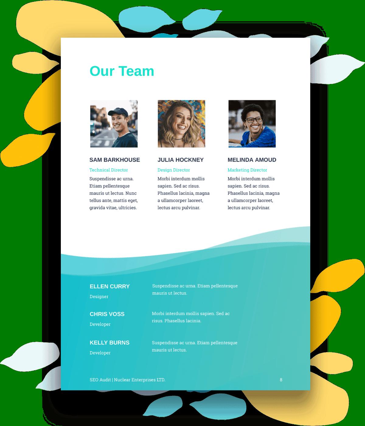 SEO proposal team page
