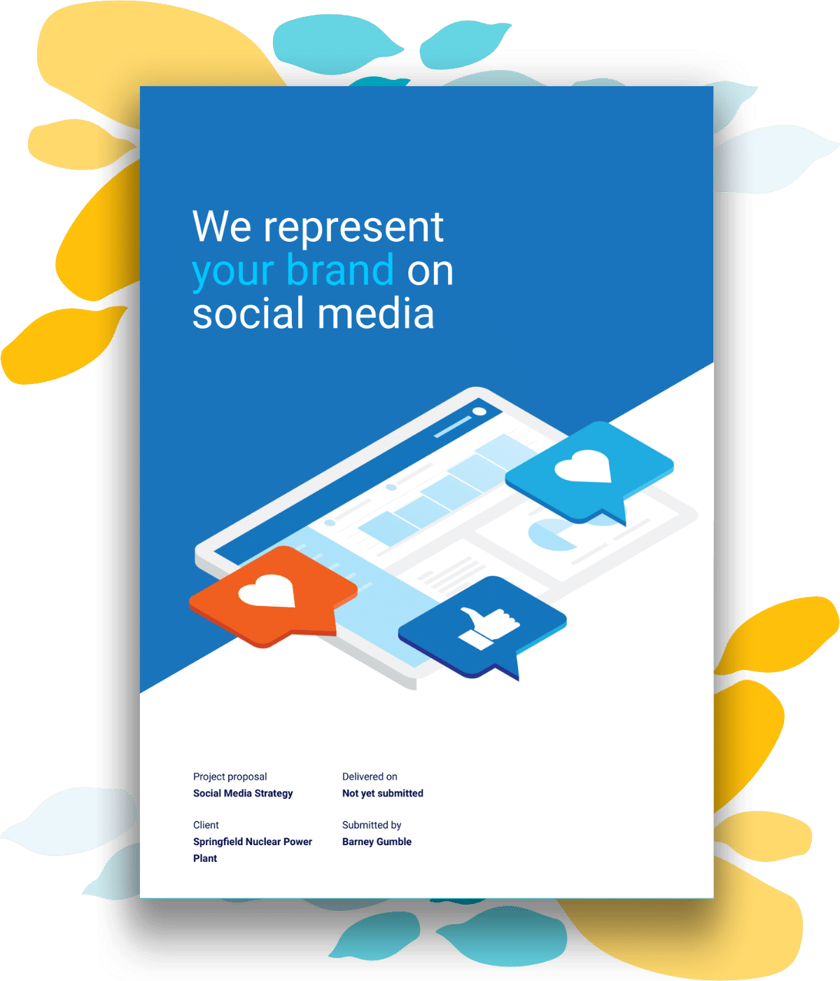 sample cover page for social media proposal template