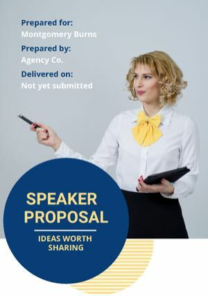 Speaker Proposal Template cover