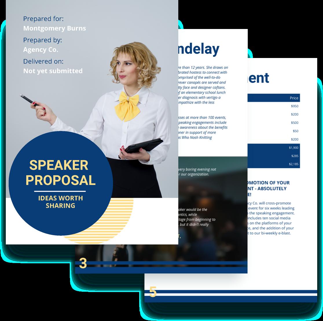 free speaker proposal template