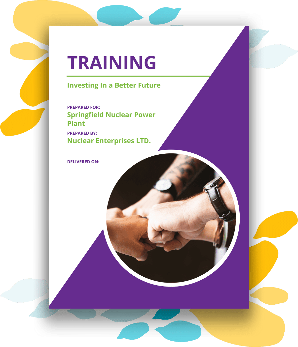 Training proposal template cover page