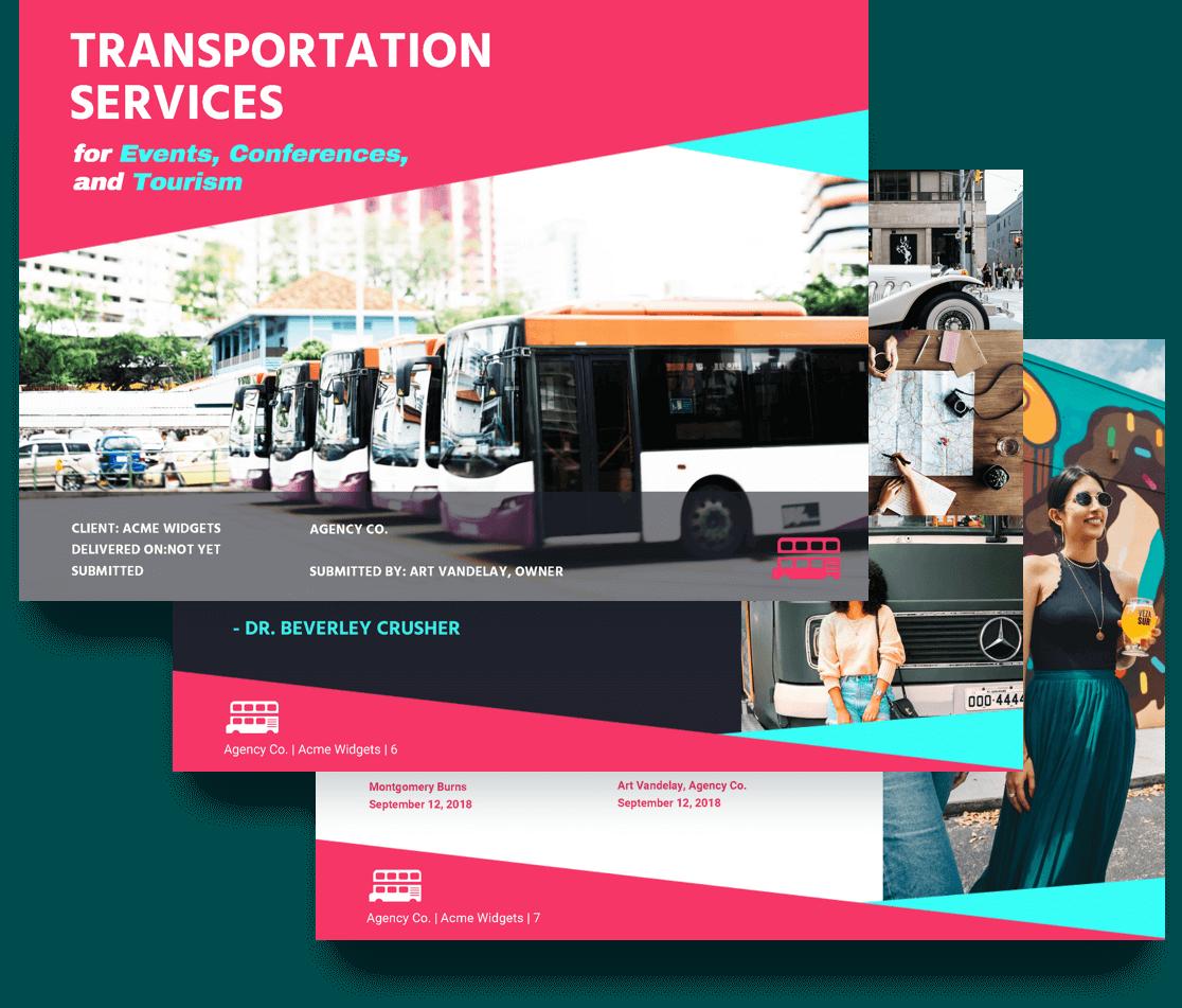 free transportation proposal template