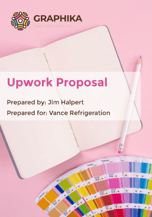 Upwork Proposal Template cover