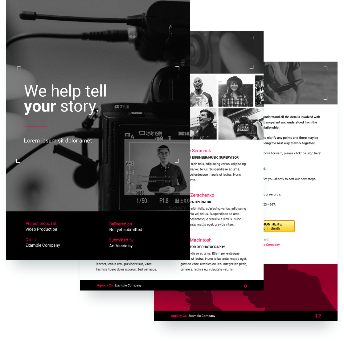 free video production proposal template