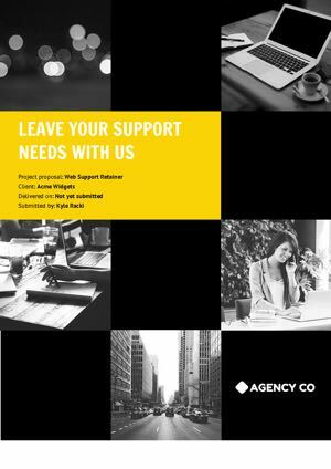 Web Support Retainer Proposal Template cover
