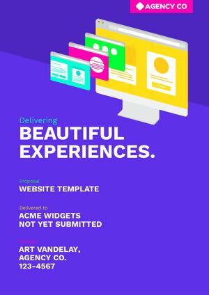 Website Proposal Template cover