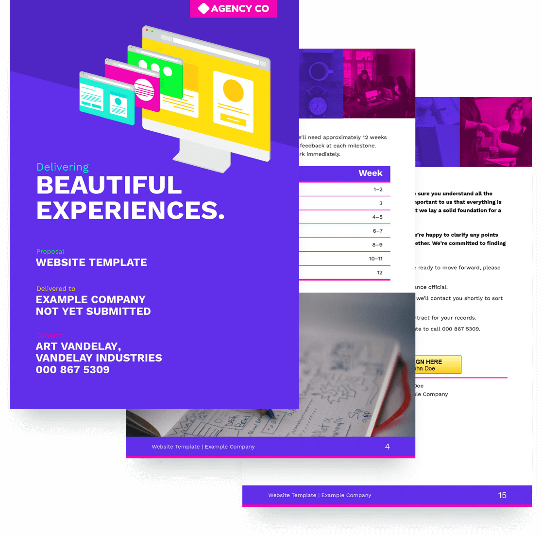 free website proposal template