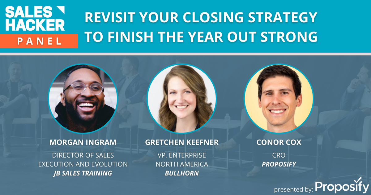 Revisit you closing strategy to finish the year strong