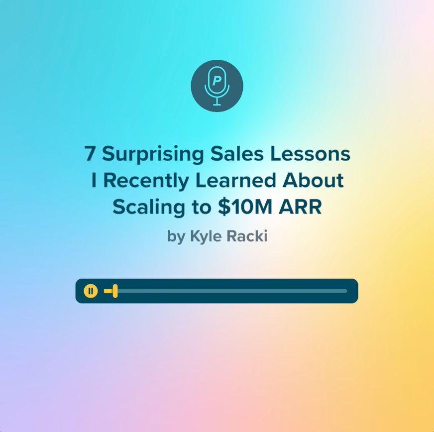 kyle racki audio clip for lessons learned in sales