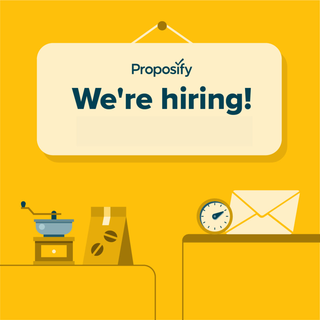 Proposify's hiring sign