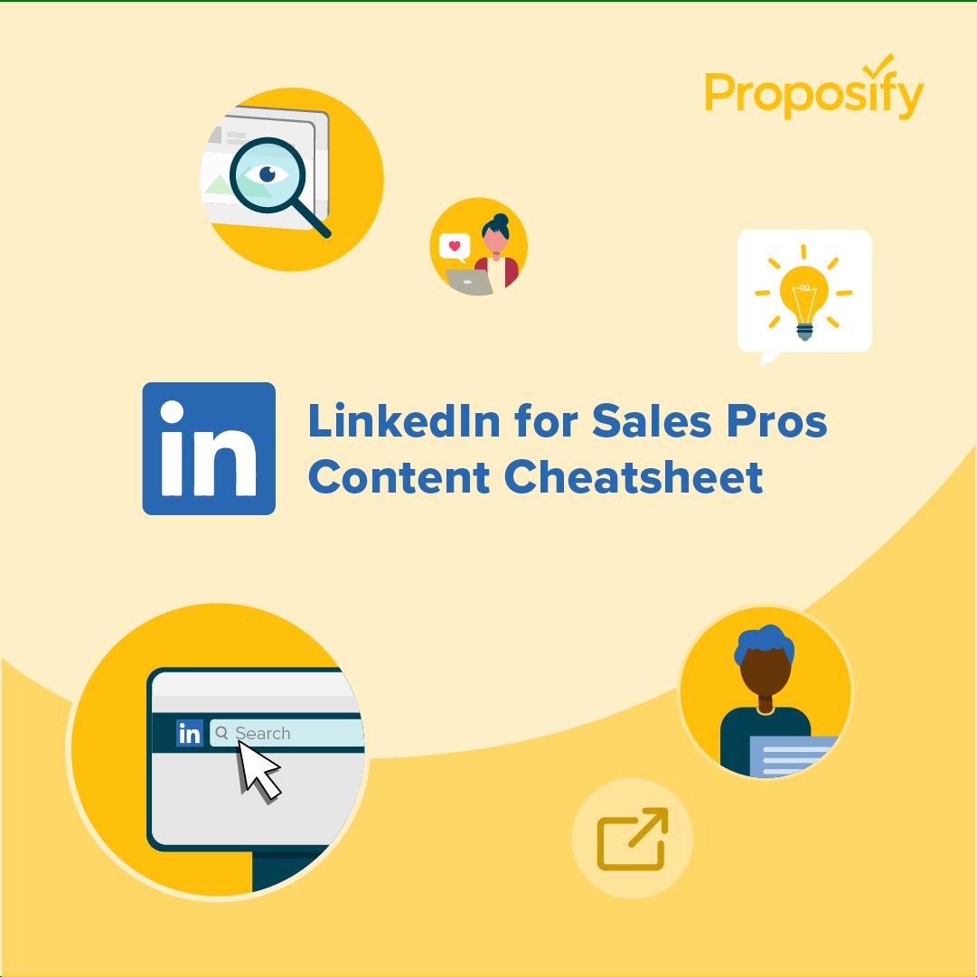 Highlights for Linkedin's Sales Pros' Content Marketing Cheatsheet